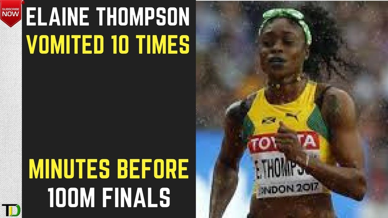 Photo of SAD: Elaine Thompson VOMITED 10 TIMES! minutes BEFORE the 100M FINALS in LONDON! [Video]