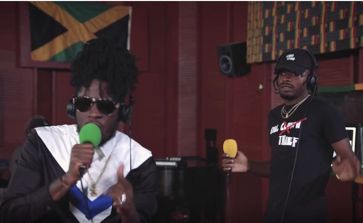 """Photo of Aidonia and Govana here performing """"Breeze"""" in studio for 1Xtra in Jamaica [Video]"""
