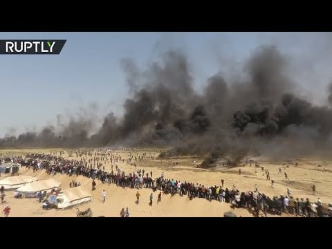 Photo of Drone clips here showing 'Great March of Return' fiery protests along Gaza strip [Video]