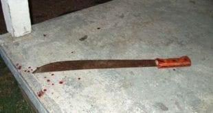 machete chop blood