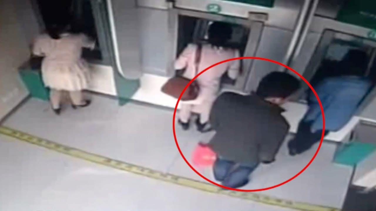Photo of Man snatches cash out woman's hand at ATM machine [Video]
