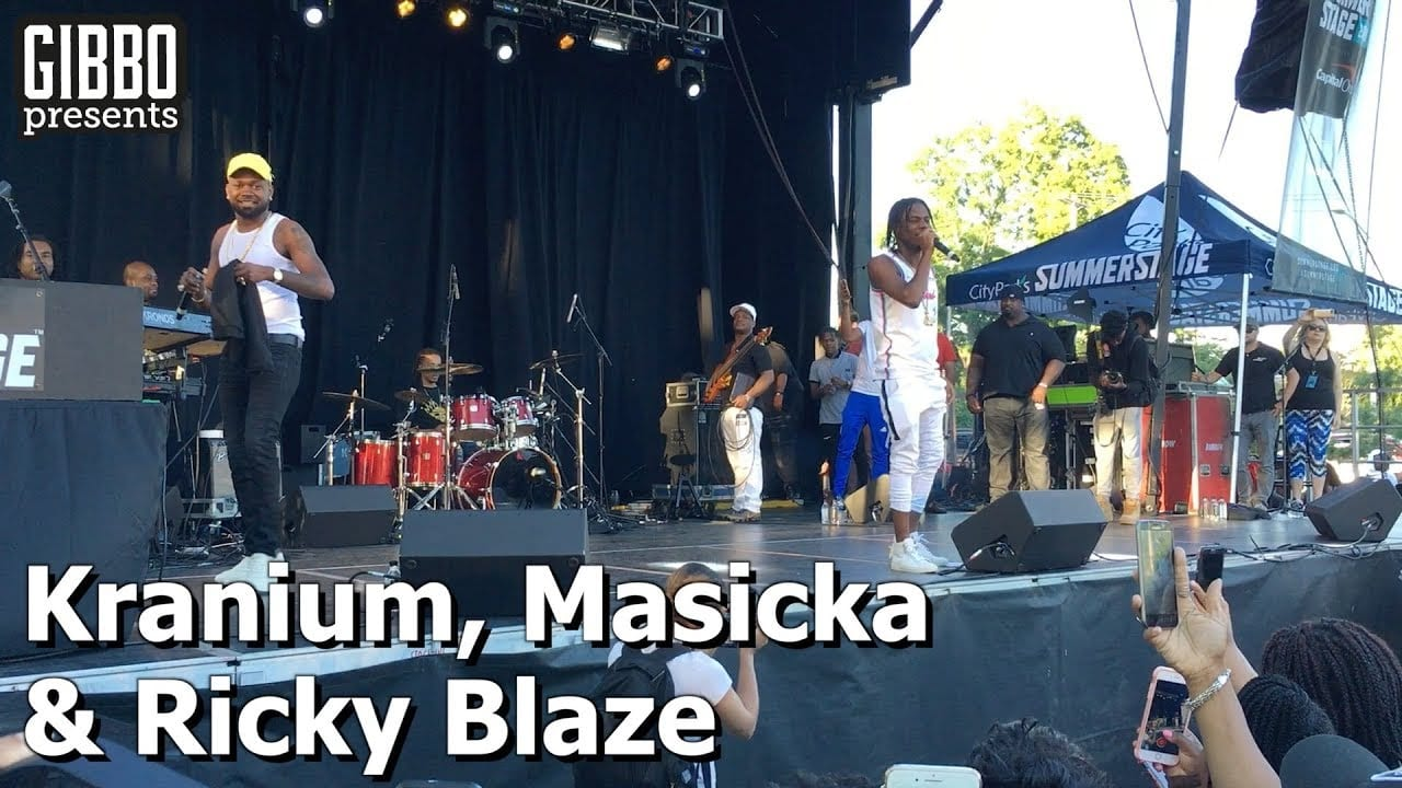 Photo of Kranium Brings Out Masicka and Ricky Blaze on stage in NY [Video]