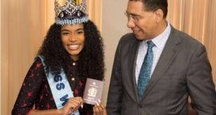 Miss World 2019 Toni-Ann Singh and andrew holness Made Ambassador Granted Diplomatic Passport