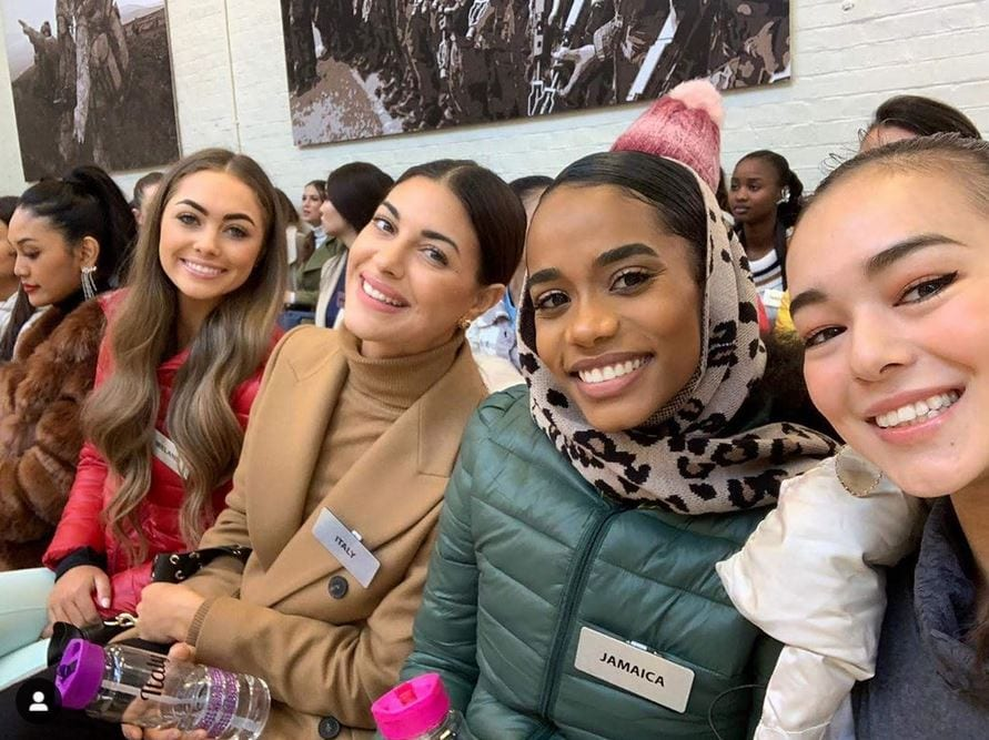 toniann singh ja miss world 2019 in london with girls ladies competiters