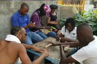 Dexta daps playing domino in seaview gardens jamaica
