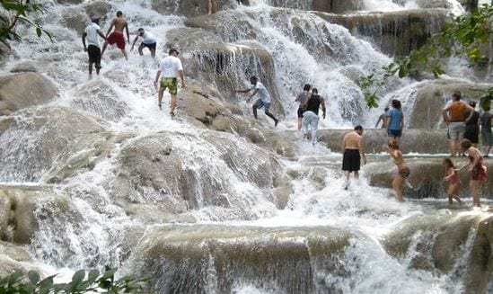 Photo of Dunns River Falls and Park named Caribbean's Leading Adventure Tourist Attraction