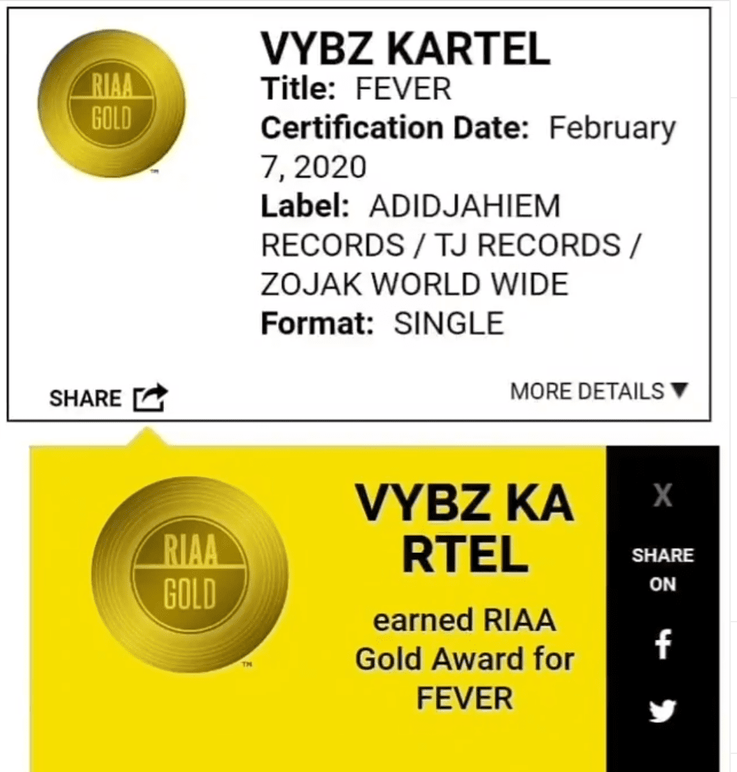 """Fever"" was certified Gold and kartel Celebrates"