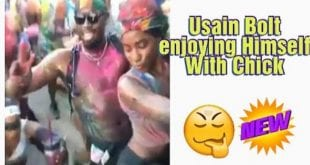 Usain Bolt and Random Girl at Trinidad Carnival