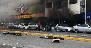 Explosion guts restaurant in busy New Kingston