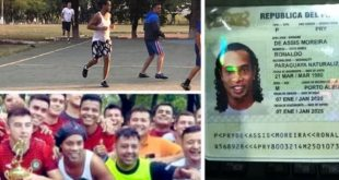 Ronaldinho pictured inside jail for the first timeCredit: Twitter @repollera