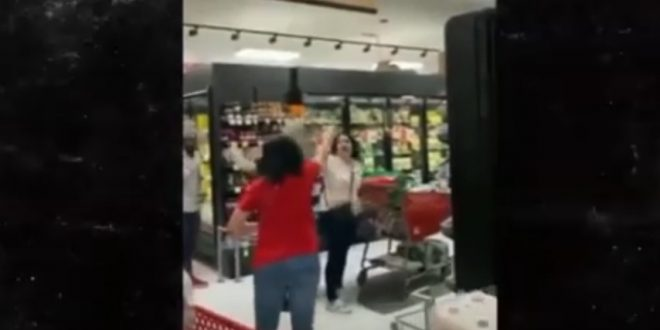 Hilarious moment Shoppers chase woman out store for not wearing mask