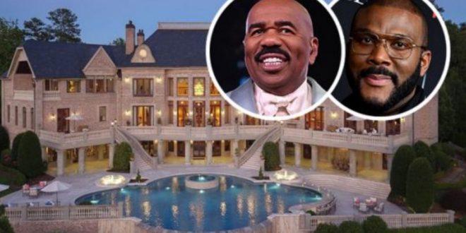 STEVE HARVEY SPENDS $15MILLION BUYING TYLER PERRY'S FORMER MANSION