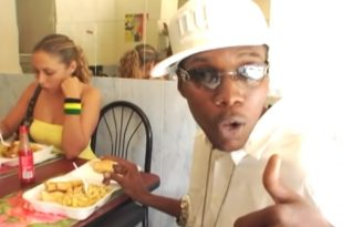 Vybz Kartel in New York eating Ackee and saltfish w/ Breadfruit [Video]
