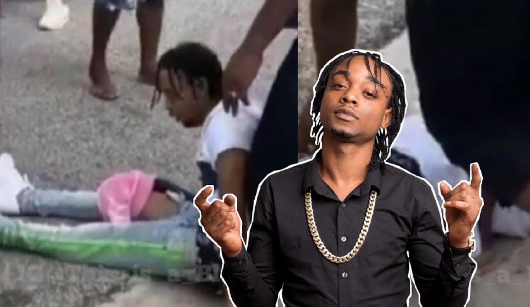 Photo of Video of Rygin King Collapsing after he was Shot