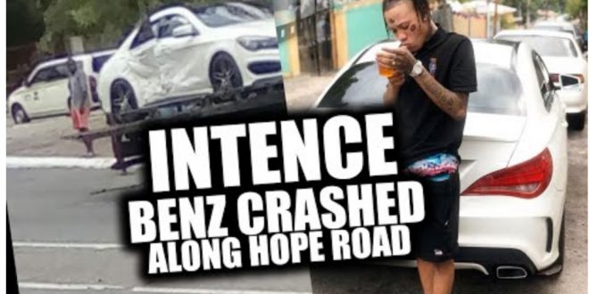 Intence Benz Crashed in Kingston