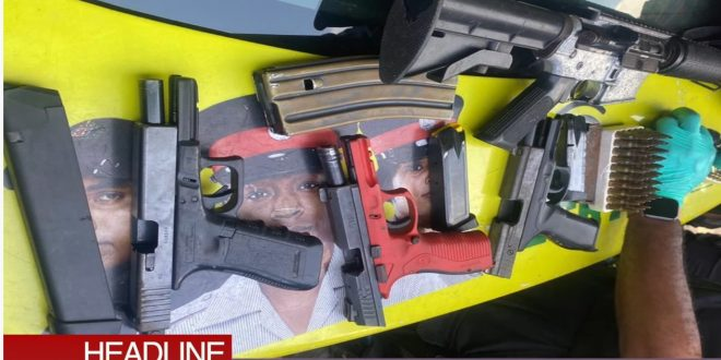 Multiple Weapons Seized from G-City Gang in St. James