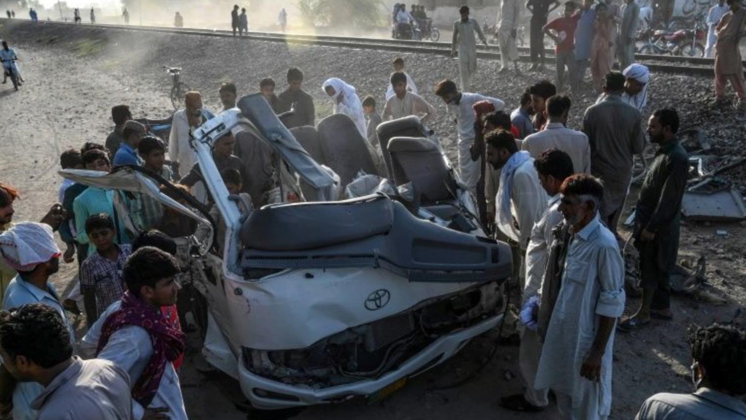 Pakistan Train and Van Collided Leaving 19 Pilgrims Dead